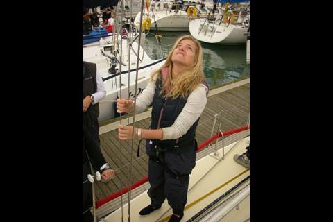 Emily in sailor mode